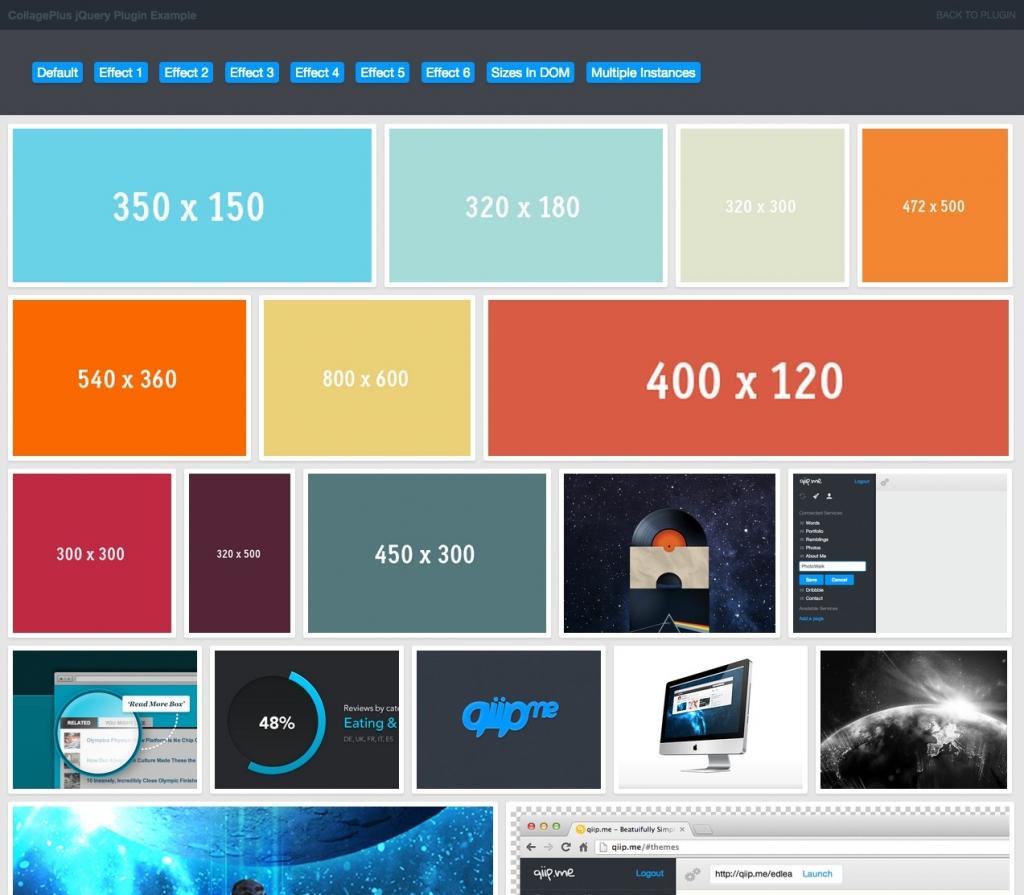 「【CollagePlus】隙間なくきれいに整ったグリッドレイアウトを実現するjQueryプラグイン」のイメージ