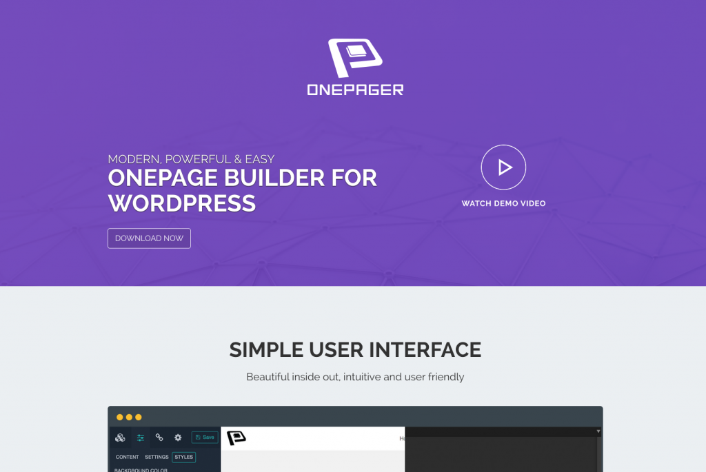 「【ONEPAGE BUILDER FOR WORDPRESS】WordPressの投稿画面でシングルページレイアウトの固定ページを簡単に生成できるwordpressプラグイン」のイメージ