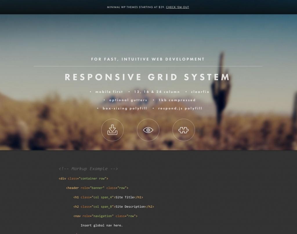 「【RESPONSIVE GRID SYSTEM】PCからスマートフォンでなくスマートフォンからPCというコンセプトのレスポンシブフレームワーク」のイメージ