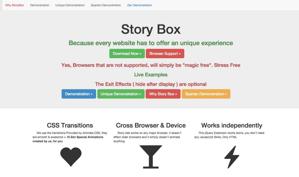 「【Story Box】CSS3のアニメーションで色々動かしたりできるサンプル」のイメージ
