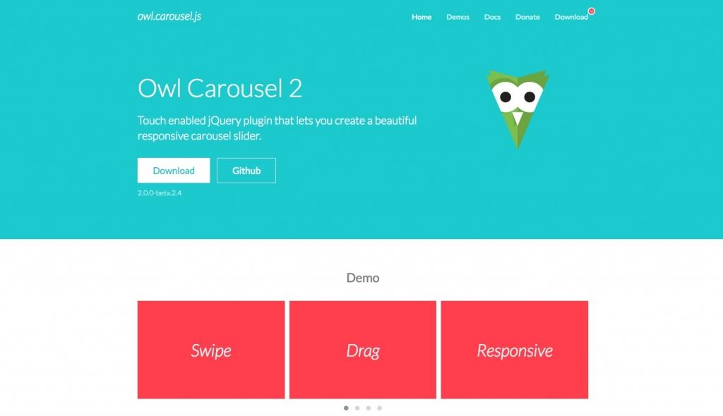 「【Owl Carousel】レスポンシブに対応したシンプルで簡単設置できるカルーセルのjQueryプラグイン」のイメージ